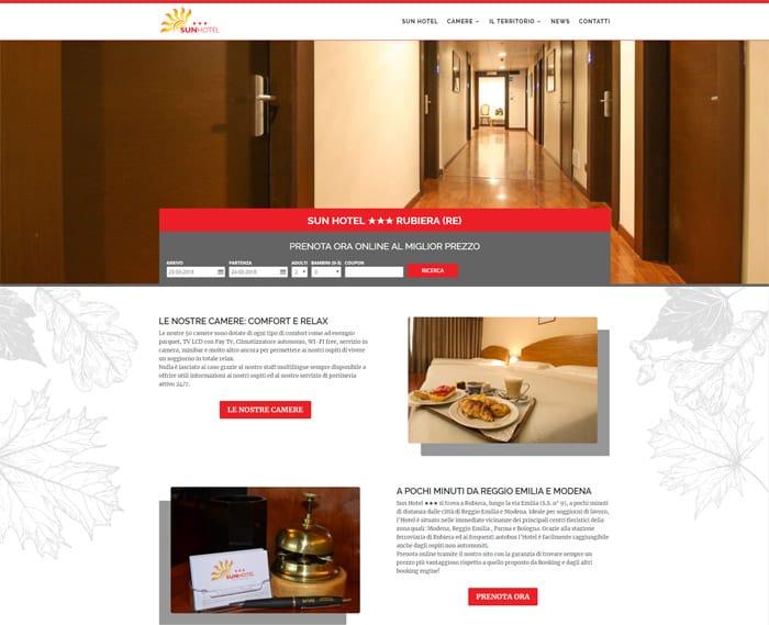 Nuovo sito web Sun Hotel